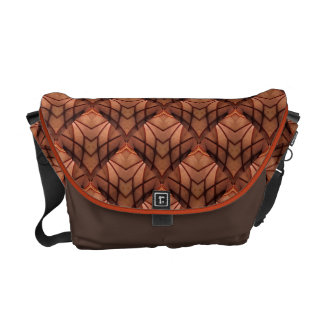 Modern Copper Colored Pattern 034 Messenger Bag