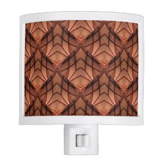 Modern Copper Colored Pattern 034 Nite Light