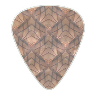 Modern Copper Colored Pattern 034 Pearl Celluloid Guitar Pick