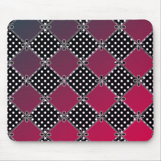 Modern-Country-Diamond's-Red's-Polka-Dots_Unisex Mouse Pad