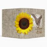 Modern Country yellow Sunflower burlap wedding