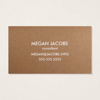 Modern Craft Paper Texture Business Card
