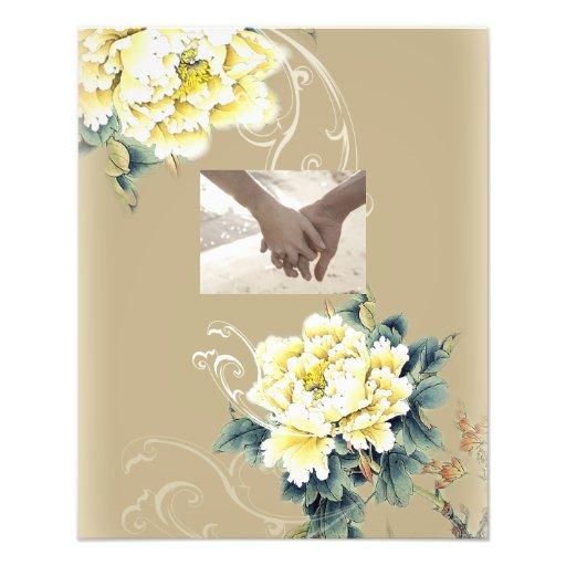 modern cream vintage spring Peony floral wedding Photo Print