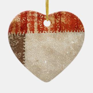 Modern Creative Abstract Ceramic Heart Ornament