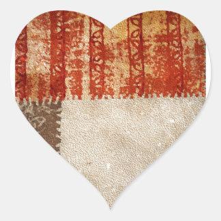 Modern Creative Abstract Heart Sticker