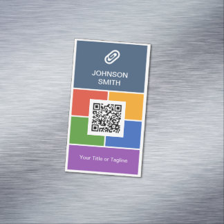 Modern Creative Flat Metro Style with QR Code Magnetic Business Card