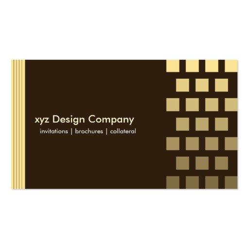 Modern custom Chocolate/Lemon Business Card