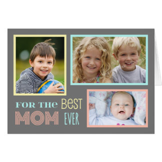 Modern Custom Photo Happy Mother's Day Card
