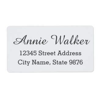 Modern Custom Shipping Label - Clear Snow White