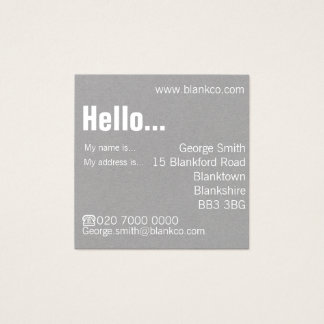 Modern Customisable Square Business Card
