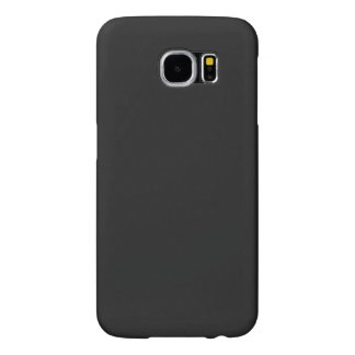 Modern Customizable Charcoal Black Samsung Galaxy S6 Cases