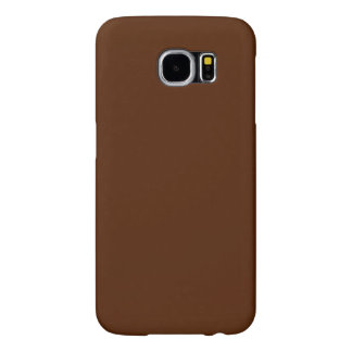 Modern Customizable Elegant Brown Samsung Galaxy S6 Cases