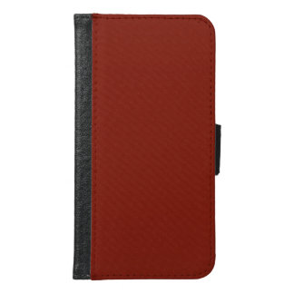 Modern Customizable Garnet Red Galaxy S6 Case