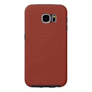 Modern Customizable Garnet Red Samsung Galaxy S6 Cases