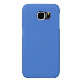 Modern Customizable Sapphire Blue Samsung Galaxy S6 Cases