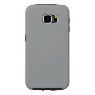 Modern Customizable Sleek Silver Samsung Galaxy S6 Cases