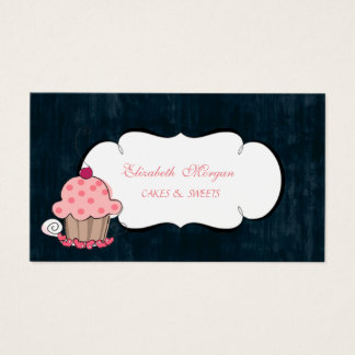 Modern Cute Adorable Cupcake Bakery Business Card