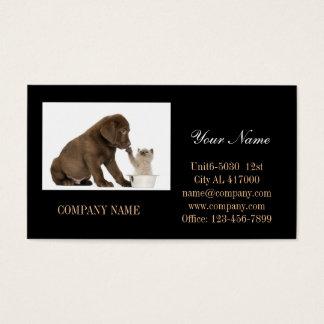 Modern cute animals pet service beauty salon business card