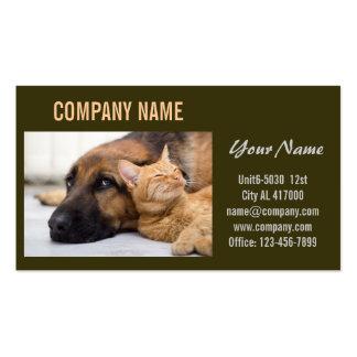 Modern cute animals pet service beauty salon pack of standard business cards