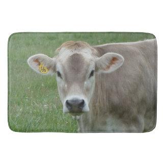 Modern Cute Cow Photo Bath Mat