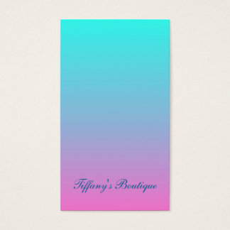 modern cute girly hot pink Fuchsia turquoise ombre Business Card