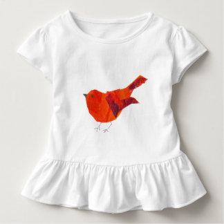 Modern Cute  Red Bird Watercolor WearableART Toddler T-shirt