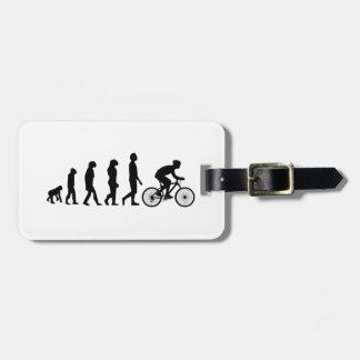Modern Cycling Human Evolution Scheme Luggage Tag