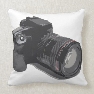 Modern D-SLR Camera Throw Pillow