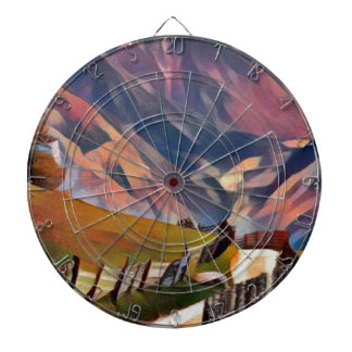 modern, dadaism,digital,painting,colorful,norway dartboard