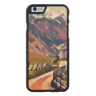 modern, dadaism,digital,painting,colorful,norway,n carved maple iPhone 6 case