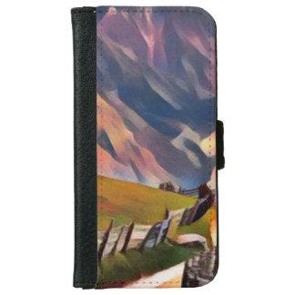modern, dadaism,digital,painting,colorful,norway,n iPhone 6 wallet case