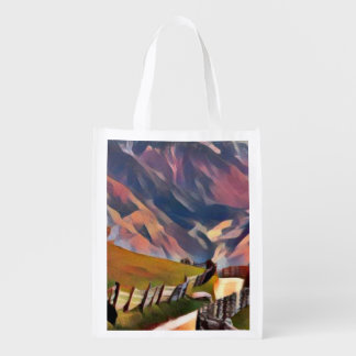 modern, dadaism,digital,painting,colorful,norway,n reusable grocery bag