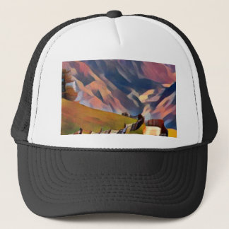 modern, dadaism,digital,painting,colorful,norway trucker hat