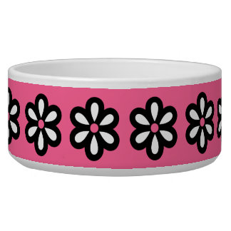 Modern Daisy Dog Bowl