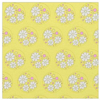 Modern Daisy Flower Daisies Floral Pattern Fabric