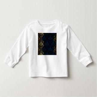 modern,damasks,floral,gold,swirl,elegant,chic, tee shirt