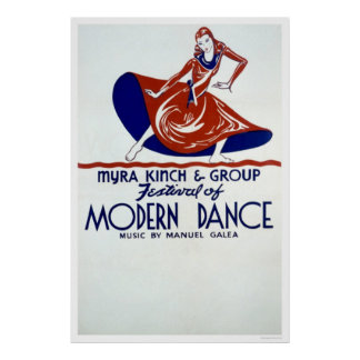 Modern Dance Festival 1938 WPA Posters