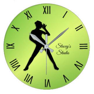 Modern Dance Studio Large Clock