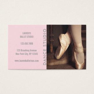 Modern Dance Studio Pink Ballerina Ballet Business Card