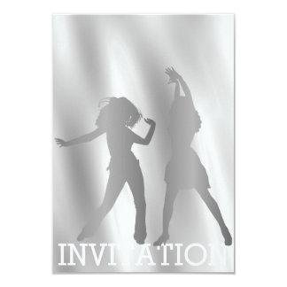 Modern Dancer Disco Club Vip Night Gray White Si Card