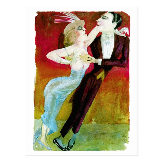 Modern Dancing Couple by Otto Dix Postcard