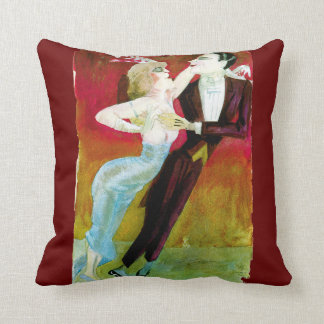 Modern Dancing Couple by Otto Dix Throw Pillow