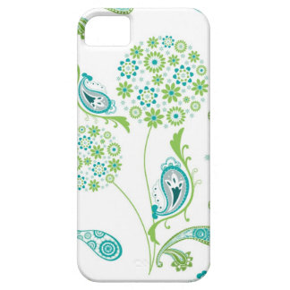 Modern Dandelion Style Flower w Paisley Pattern iPhone 5 Cases