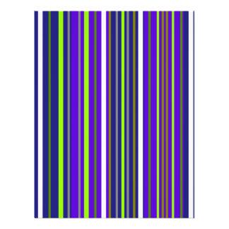Modern dark blue white and light green stripes flyer