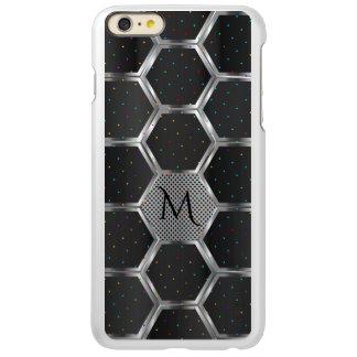 Modern Dark Gray & Silver Geometric Design
