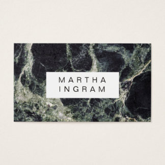 Modern Dark Marble Design Business Card