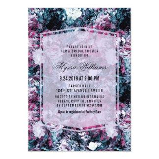 Modern Dark Moody Florals Bridal Shower Card