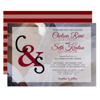 Modern Day Wedding or Anniversary - Red Maroon Card