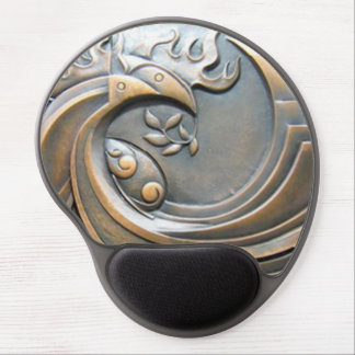 Modern decorative abstract bronze pattern gel mouse pad