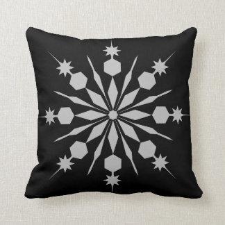 Modern Decorative Crystal Snowflake Throw Pillow